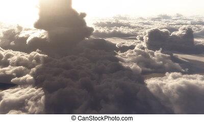 wolken, hemel, vlucht, hoogte, hoog, dramatisch, (1146), luchtopnames