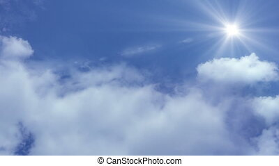 wolken, vliegen, wolken, fototoestel, door, beweging