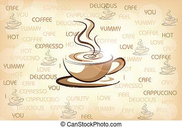 woning, koffie, ontwerp