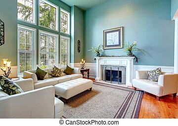 woonkamer, woning, elegant, luxe, interior.