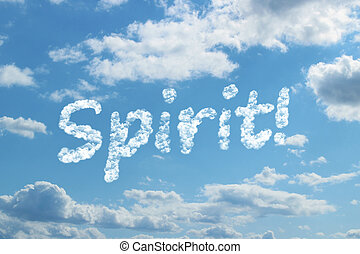woord, geest, wolk