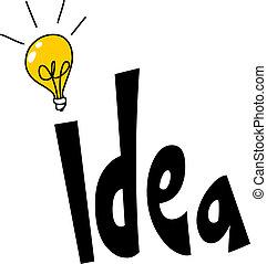 woord, ontwerp, idee