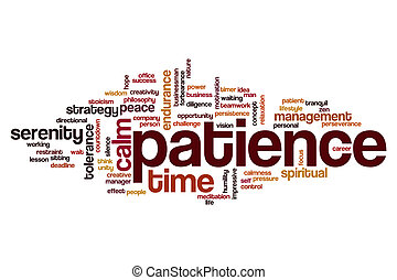 woord, wolk, geduld