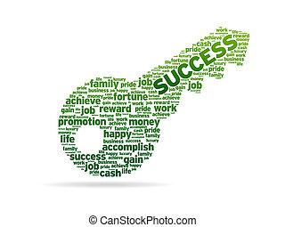 woorden, -, klee, succes