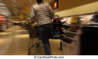 wrakkigheid, vrouw winkelen, tijd