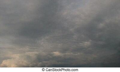 wrakkigheid, wolken, storm, tijd