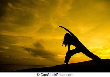 yoga, natuur