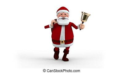 zak, claus, kerstman, klok