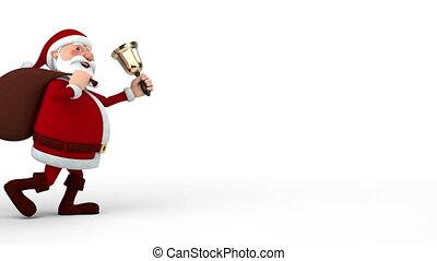 zak, klok, claus, kerstman