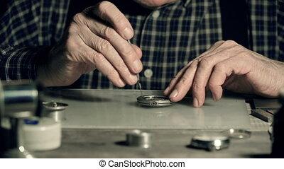 zak, repareren, horloge