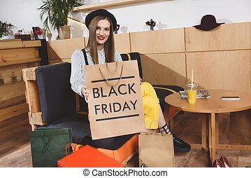 zak, vrijdag, shoppen , black