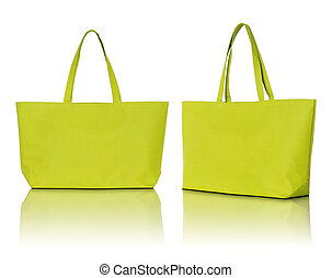 zak, witte , shoppen , achtergrond, gele