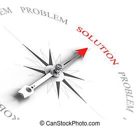 zakelijk, -, probleem, raadgevend, het oplossen, oplossing, vs