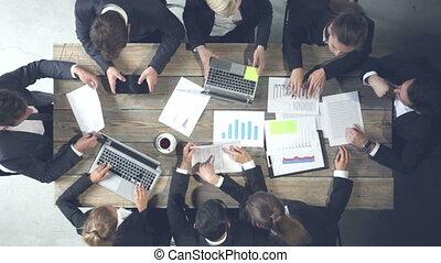 zakendirecteurs, vergadering
