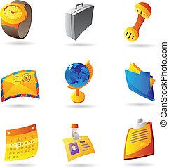 zakenkantoor, iconen