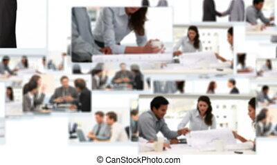 zakenlieden, klesten, montage