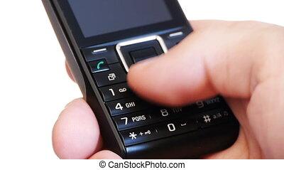 zakenman, -, hd, telefoon