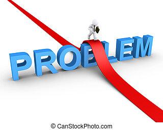 zakenman, probleem, overwinnen