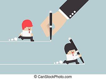zakenman, scheppen, eigen, weg, succes