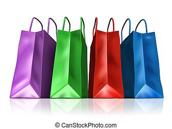 zakken, shoppen , vooraanzicht