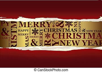 zalige kerst, kaart, groet