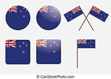 zeeland, nieuw, vlag, kentekens