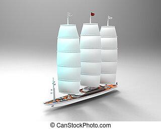 zeilboot, reproductie