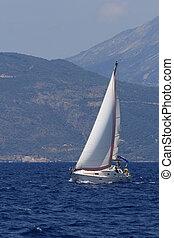zeilend, griekenland