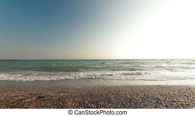 zet op het strand vakantie, het genieten van