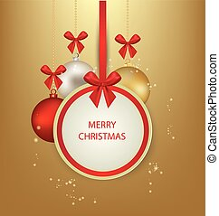 ziek, vector, card., groet, kerstmis