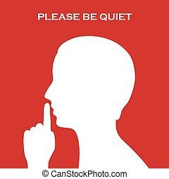 zijn, alstublieft, stille , meldingsbord