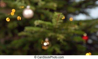 zilveren kerstmisboom, glas bal