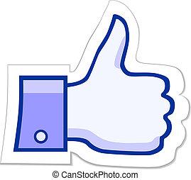 zoals, facebook, knoop, informatietechnologie