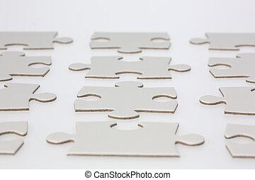 zoekplaatje, rijen, stukken