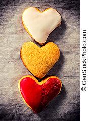 zoet hart, koekjes