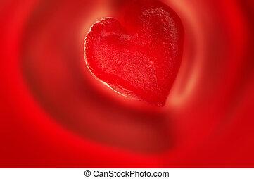 zoet, rood hart