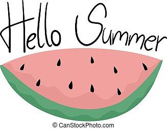 zomer, boodschap, hallo