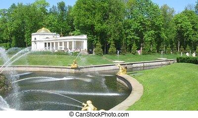zomer, fontein park, petergof