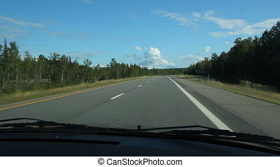 zomer, highway.