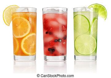 zomer, ijs, dranken