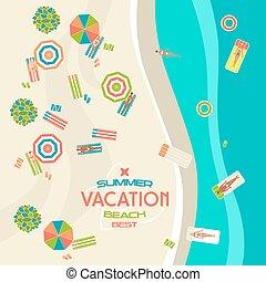 zomer, strand, spandoek
