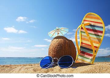 zomer, strandscène