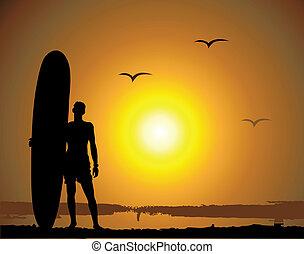 zomer, vakanties, surfing