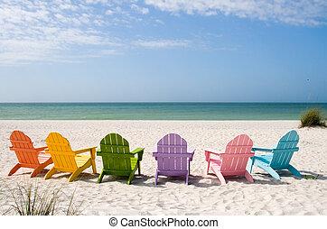 zomer, zet op het strand vakantie