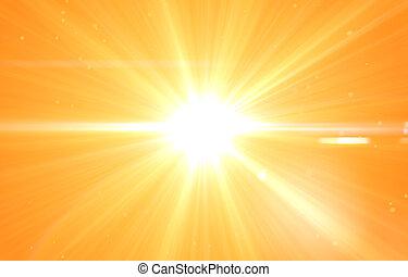 zomer, zon, prachtig, achtergrond, barsten