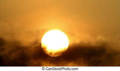 zon, achter, cloud3, morgen