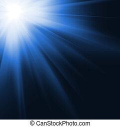 zon, genereren, digitaal, beeld