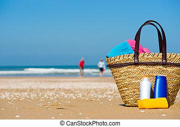 zon scherm, strand