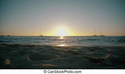 zon, strand, dons, gaan, formentera