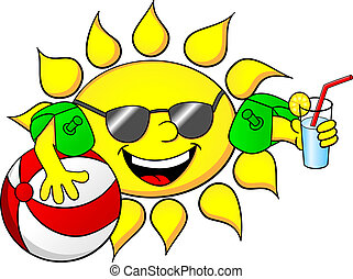 zon, vakantie, zomer